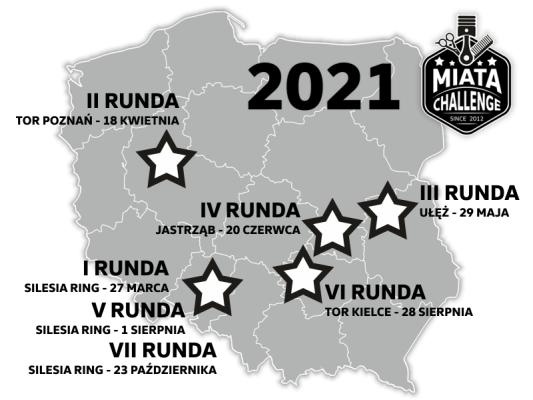 Kalendarz Miata Challenge 2021